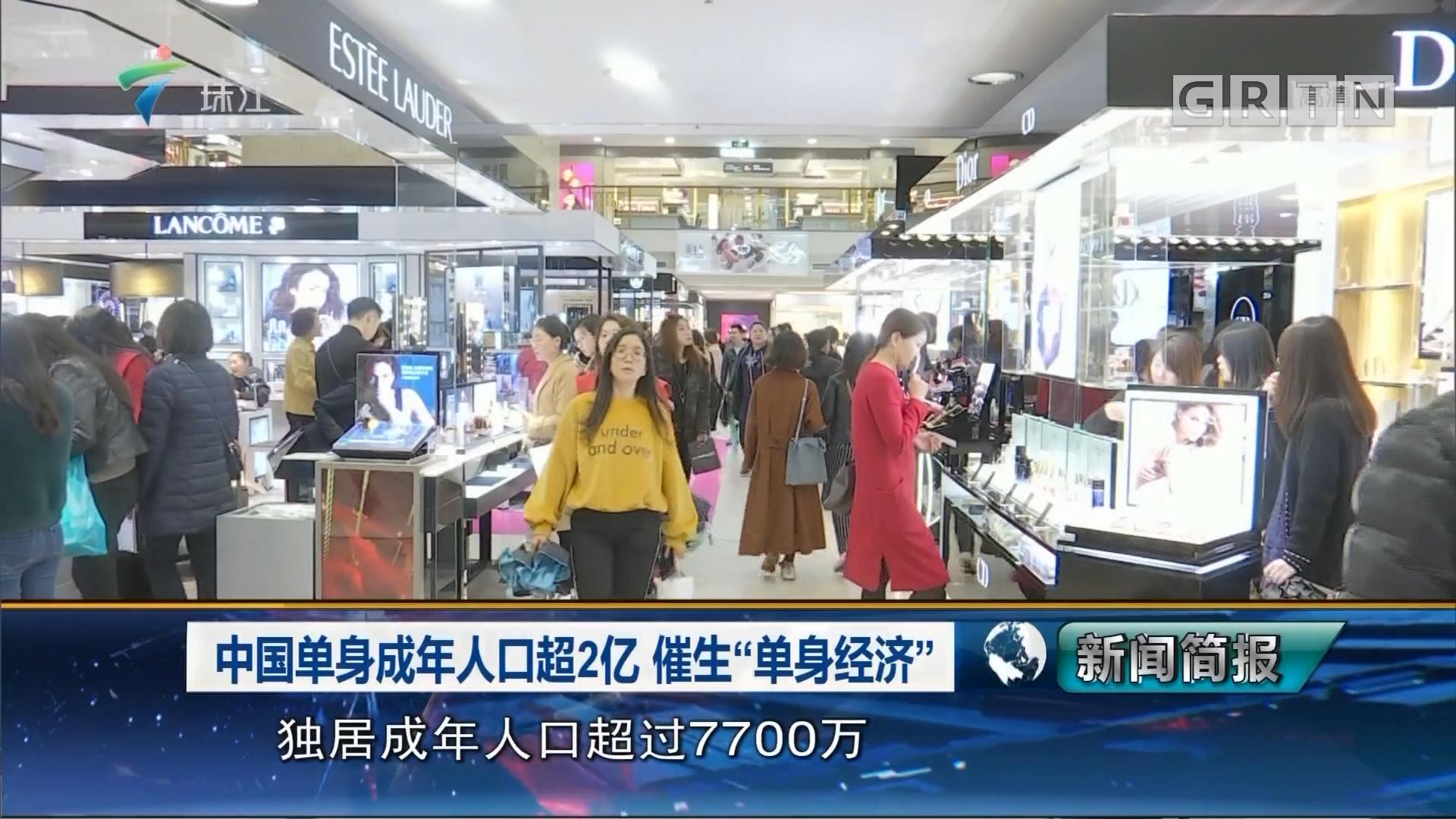"""中国单身成年人口超2亿 催生""""单身经济"""""""
