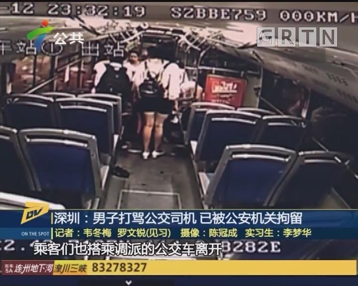 (DV现场)深圳:男子打骂公交司机 已被公安机关拘留