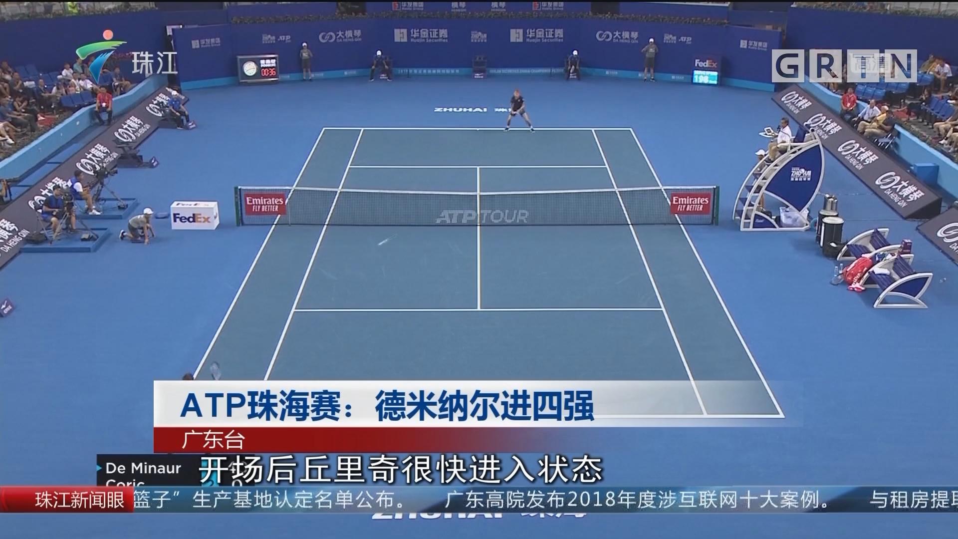 ATP珠海賽:德米納爾進四強