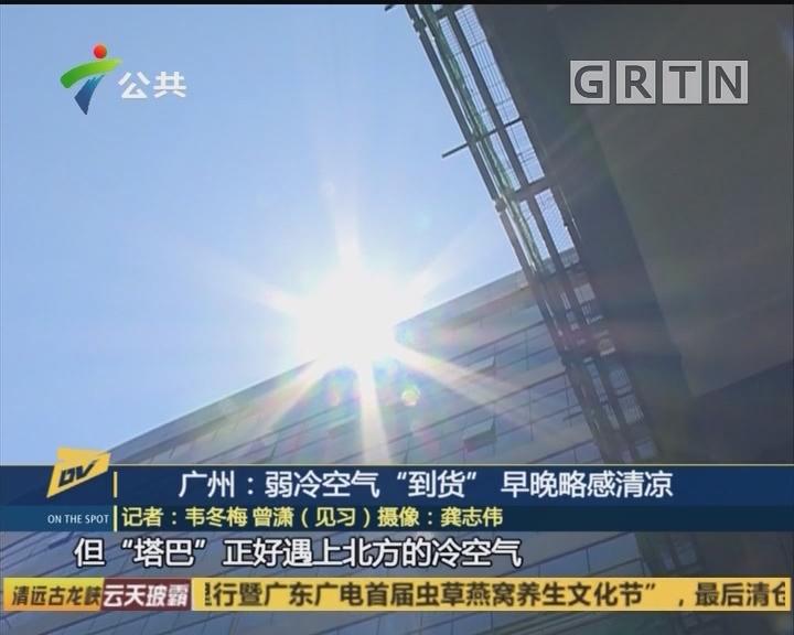"""广州:弱冷空气""""到货""""早晚略感清凉"""