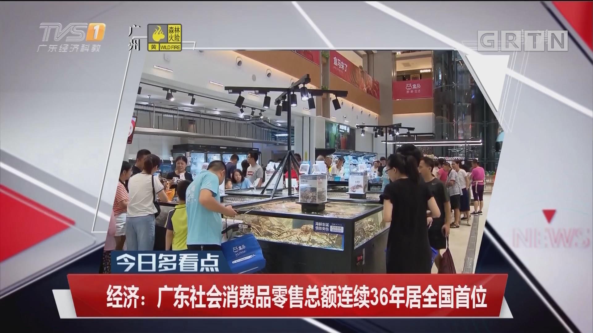 经济:广东社会消费品零售总额连续36年居全国首位