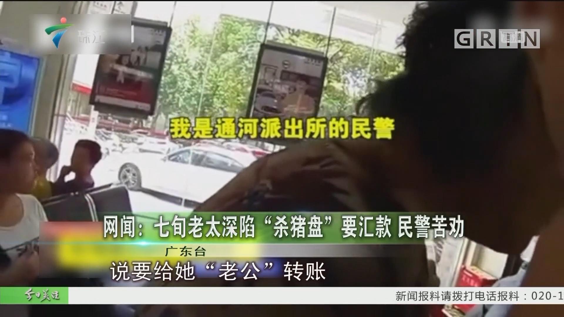 """网闻:七旬老太深陷""""杀猪盘""""要汇款 民警苦劝"""