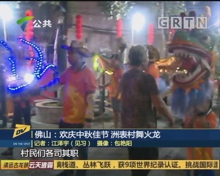 (DV现场)佛山:欢庆中秋佳节 洲表村舞火龙