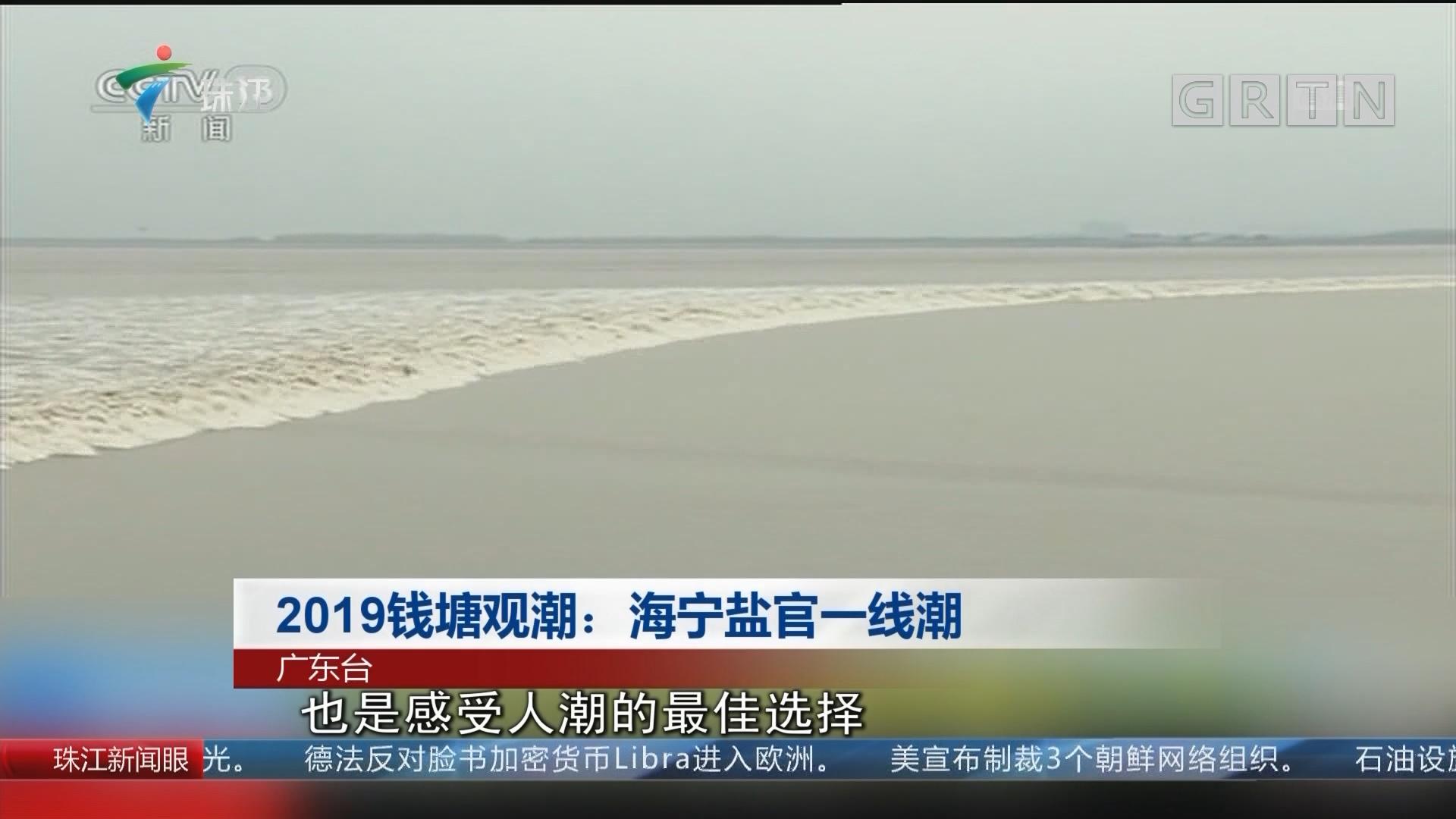 2019钱塘观潮:海宁盐官一线潮