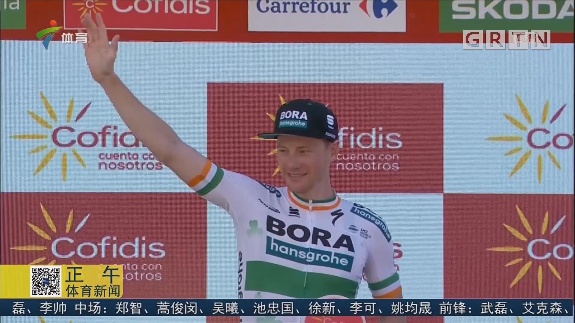 环西班牙自行车赛 萨姆·本内特登顶