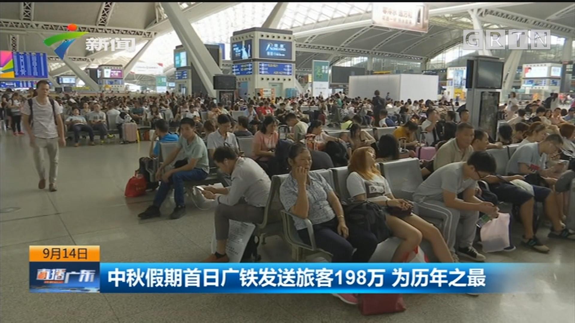 中秋假期首日广铁发送旅客198万 为历年之最