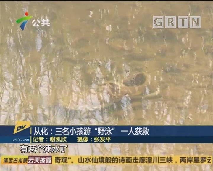 "(DV现场)从化:三名小孩游""野泳"" 一人获救"