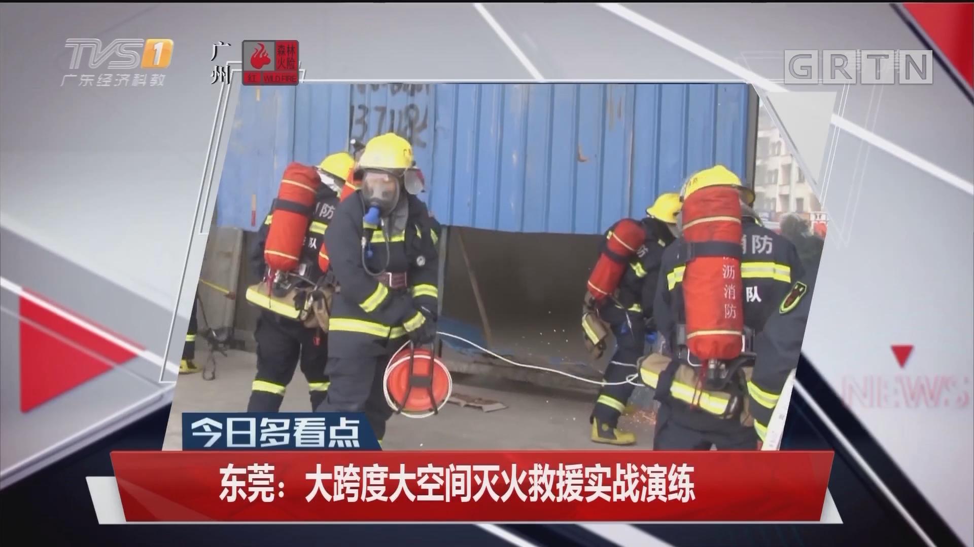 東莞:大跨度大空間滅火救援實戰演練
