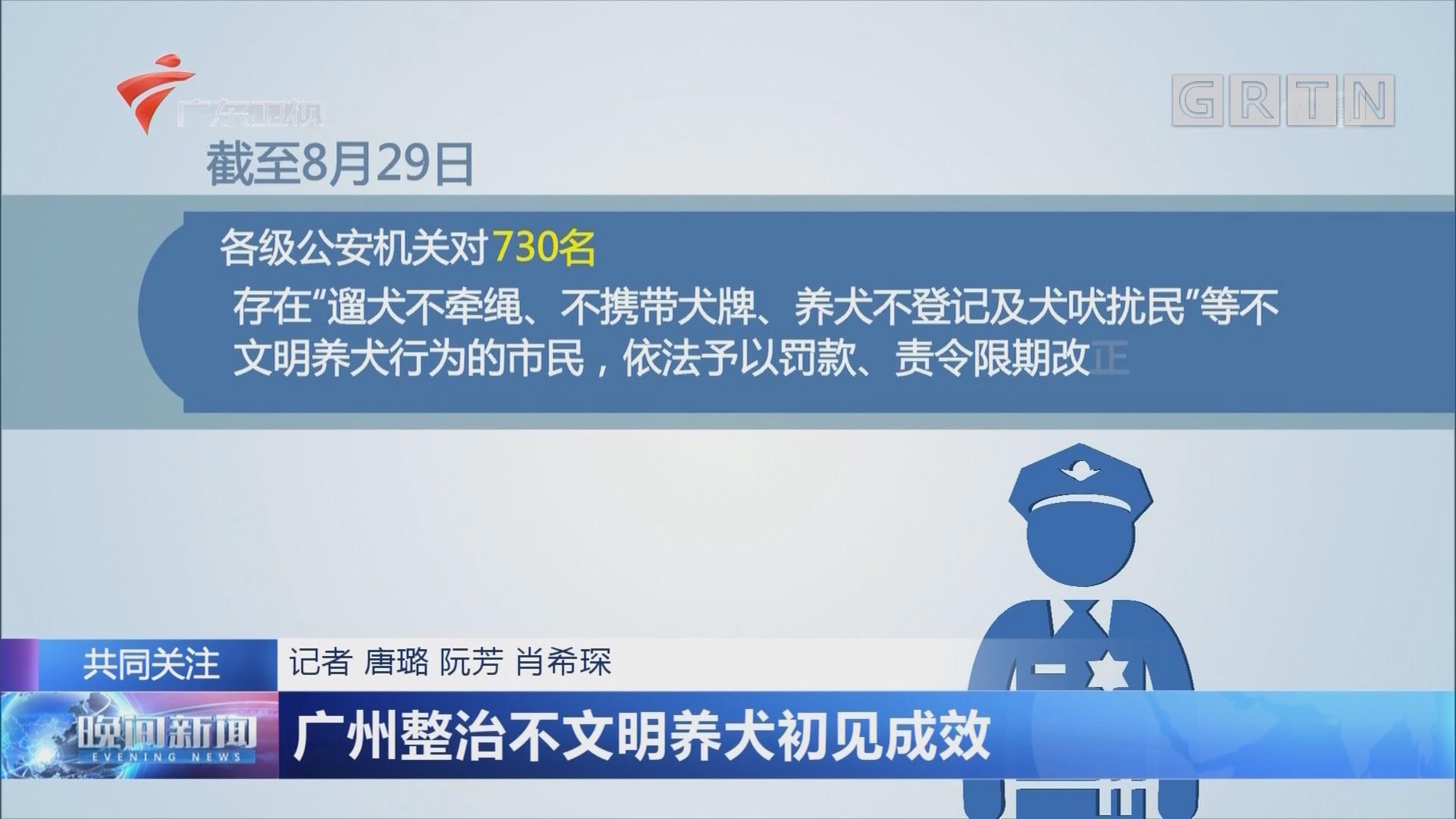 广州整治不文明养犬初见成效