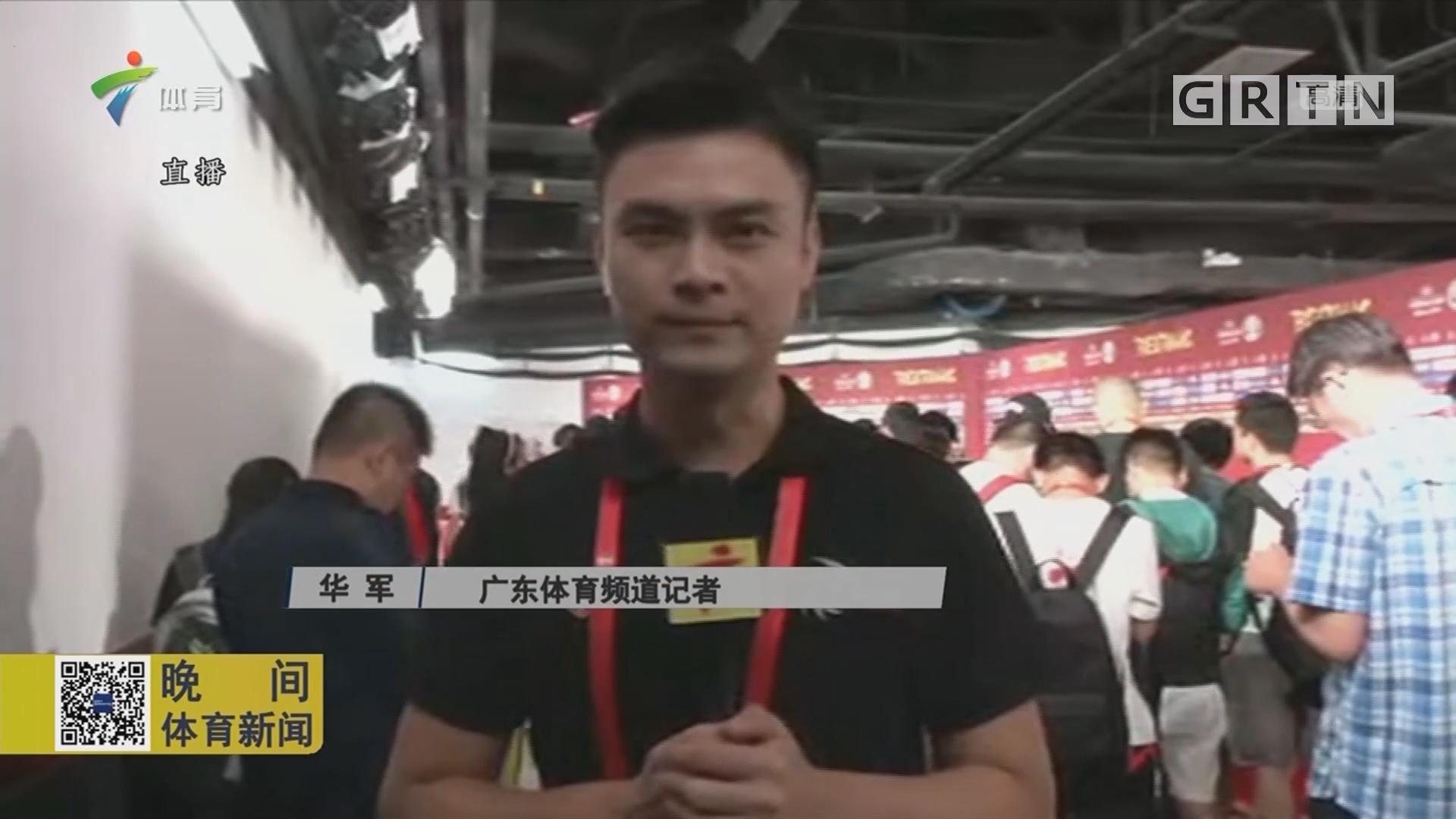 广东体育频道记者-华军现场的报道