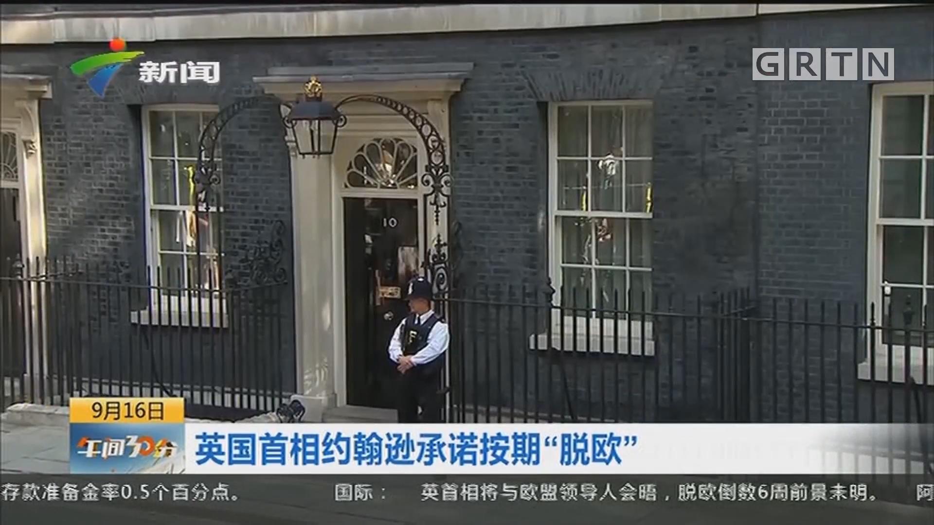 """英国首相约翰逊承诺按期""""脱欧"""""""