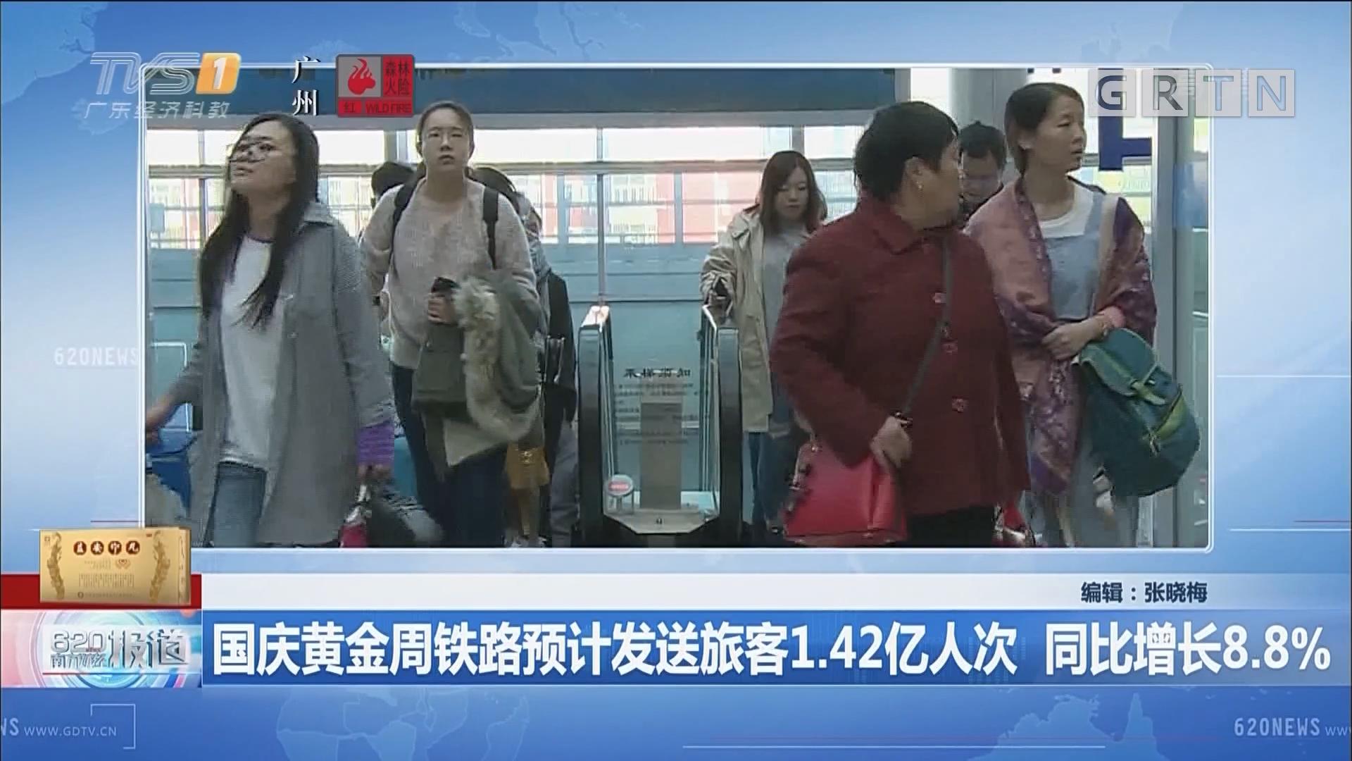 国庆黄金周铁路预计发送旅客1.42亿人次 同比增长8.8%
