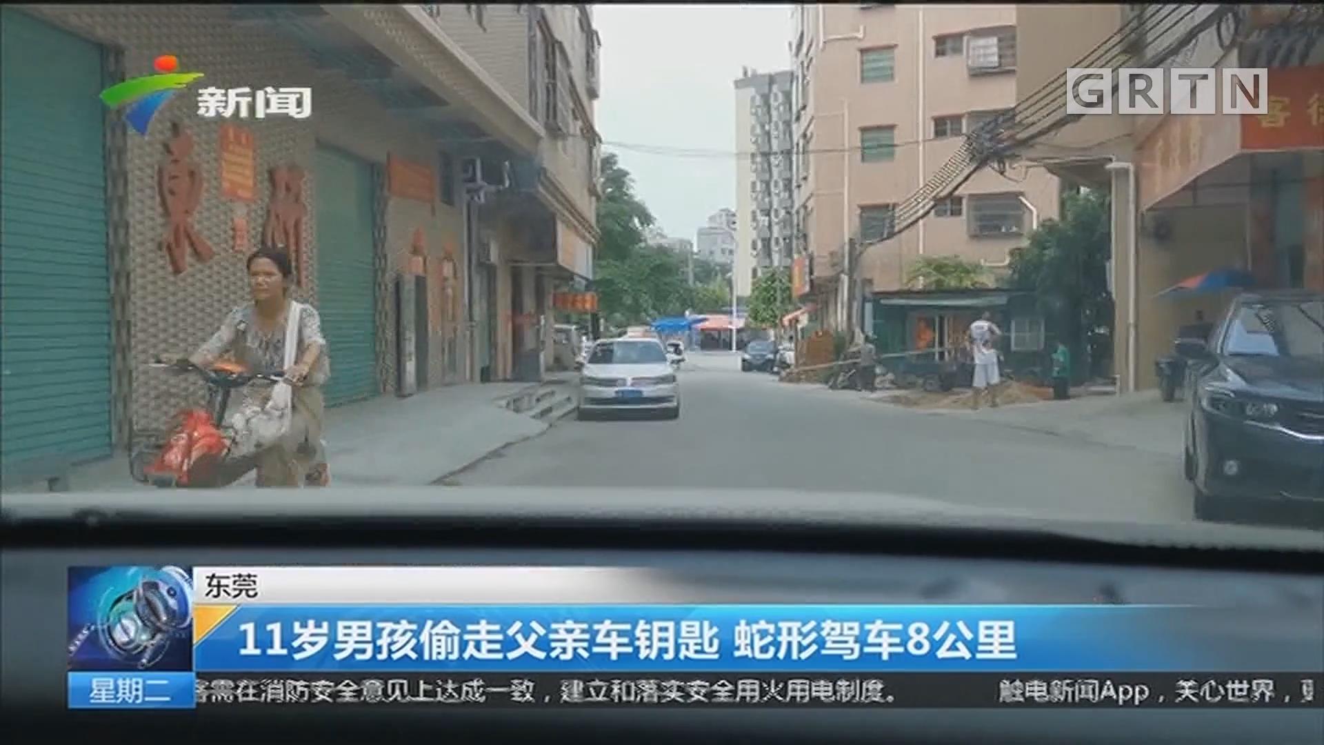 东莞:11岁男孩偷走父亲车钥匙 蛇形驾车8公里