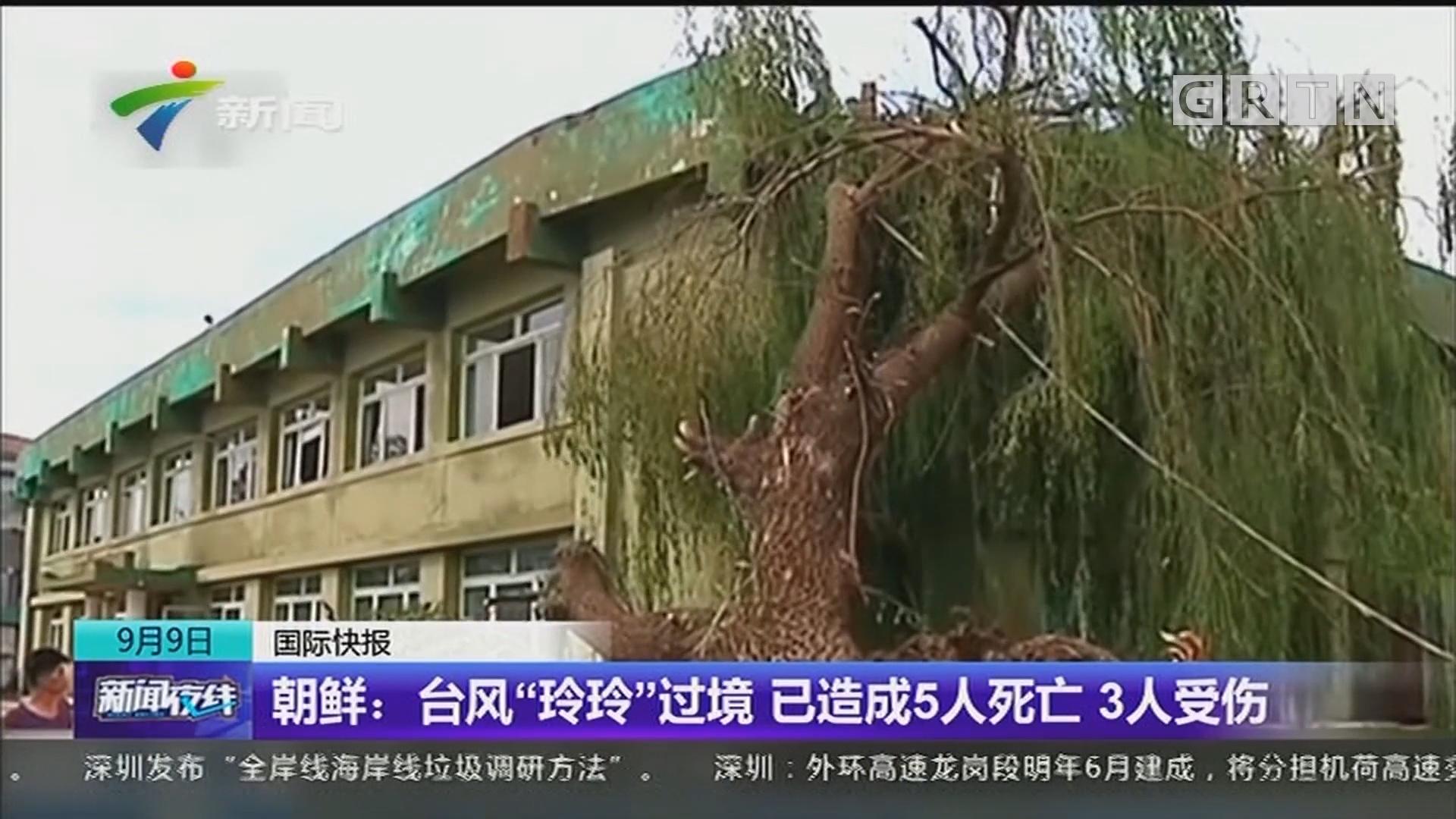 """朝鲜:台风""""玲玲""""过境 已造成5人死亡 3人受伤"""