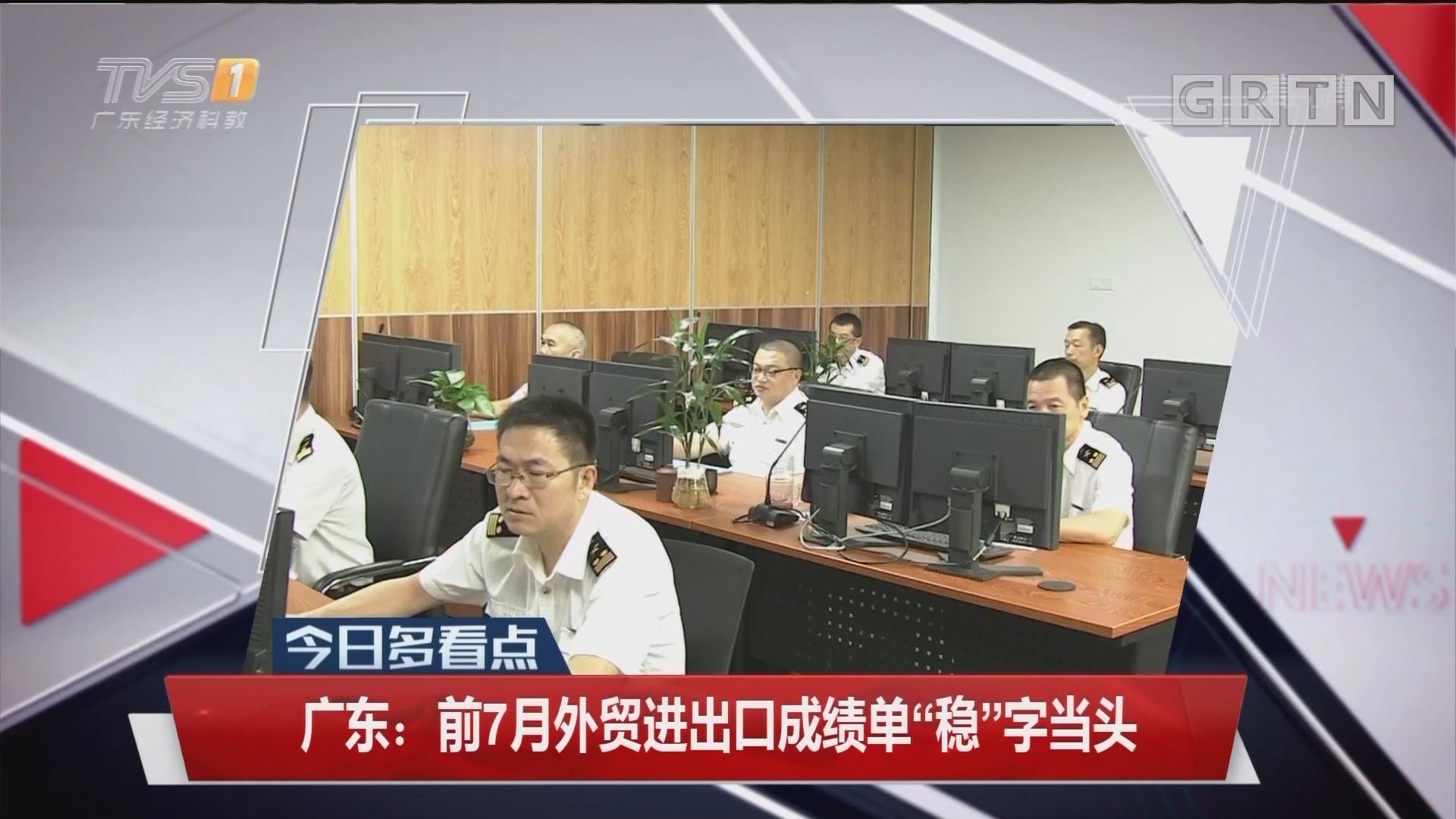 """广东:前七月外贸进出口成绩单""""稳""""字当头"""