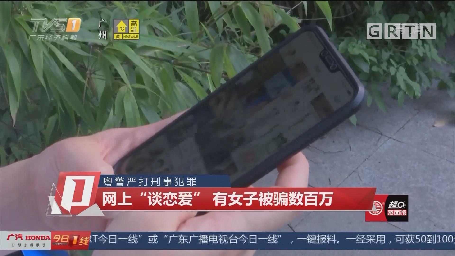 """粤警严打刑事犯罪 网上""""谈恋爱"""" 有女子被骗数百万"""