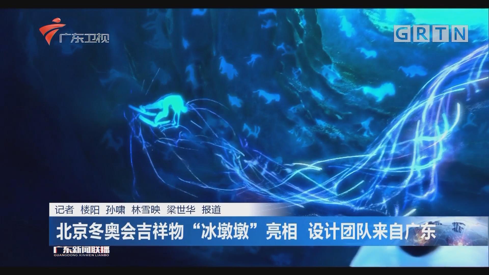 """北京冬奥会吉祥物""""冰墩墩""""亮相 设计团队来自广东"""