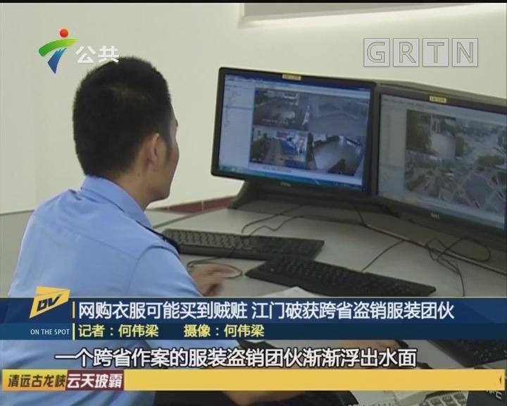 (DV现场)网购衣服可能买到贼赃 江门破获跨省盗销服装团伙