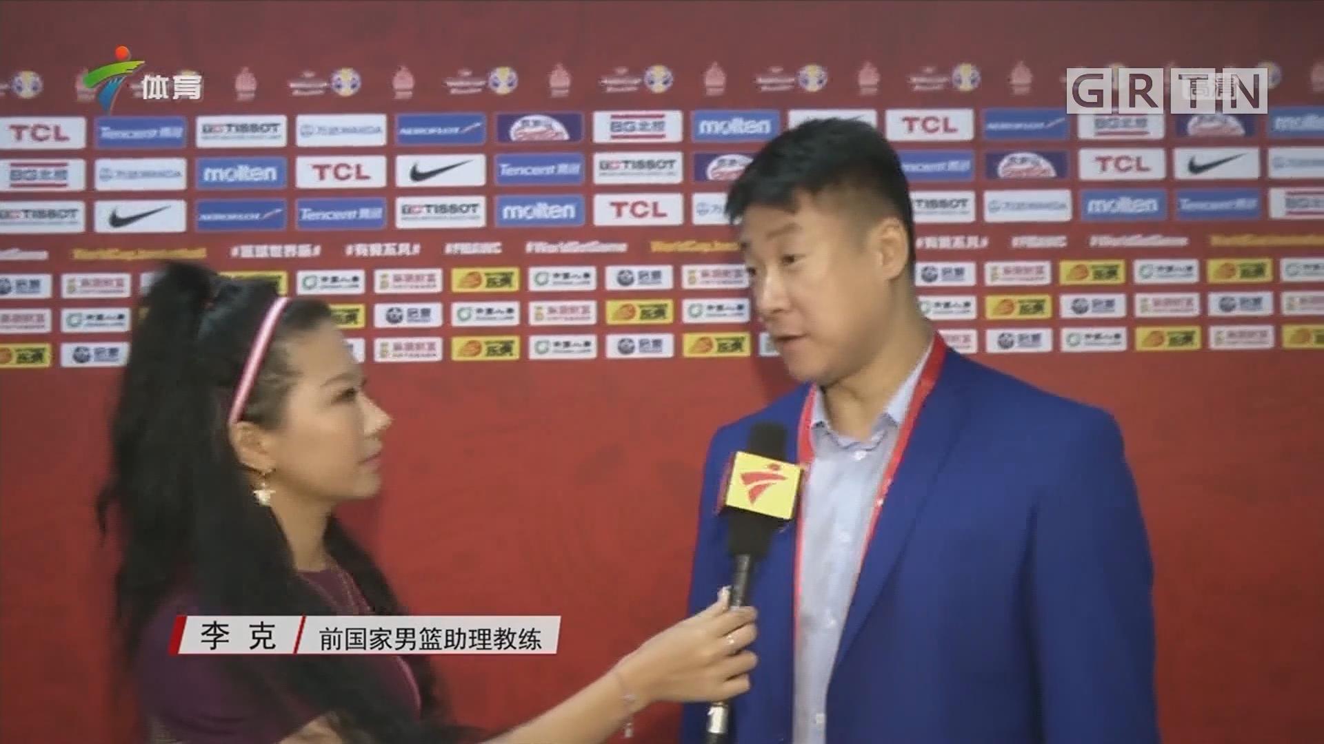 记者赛前采访李克