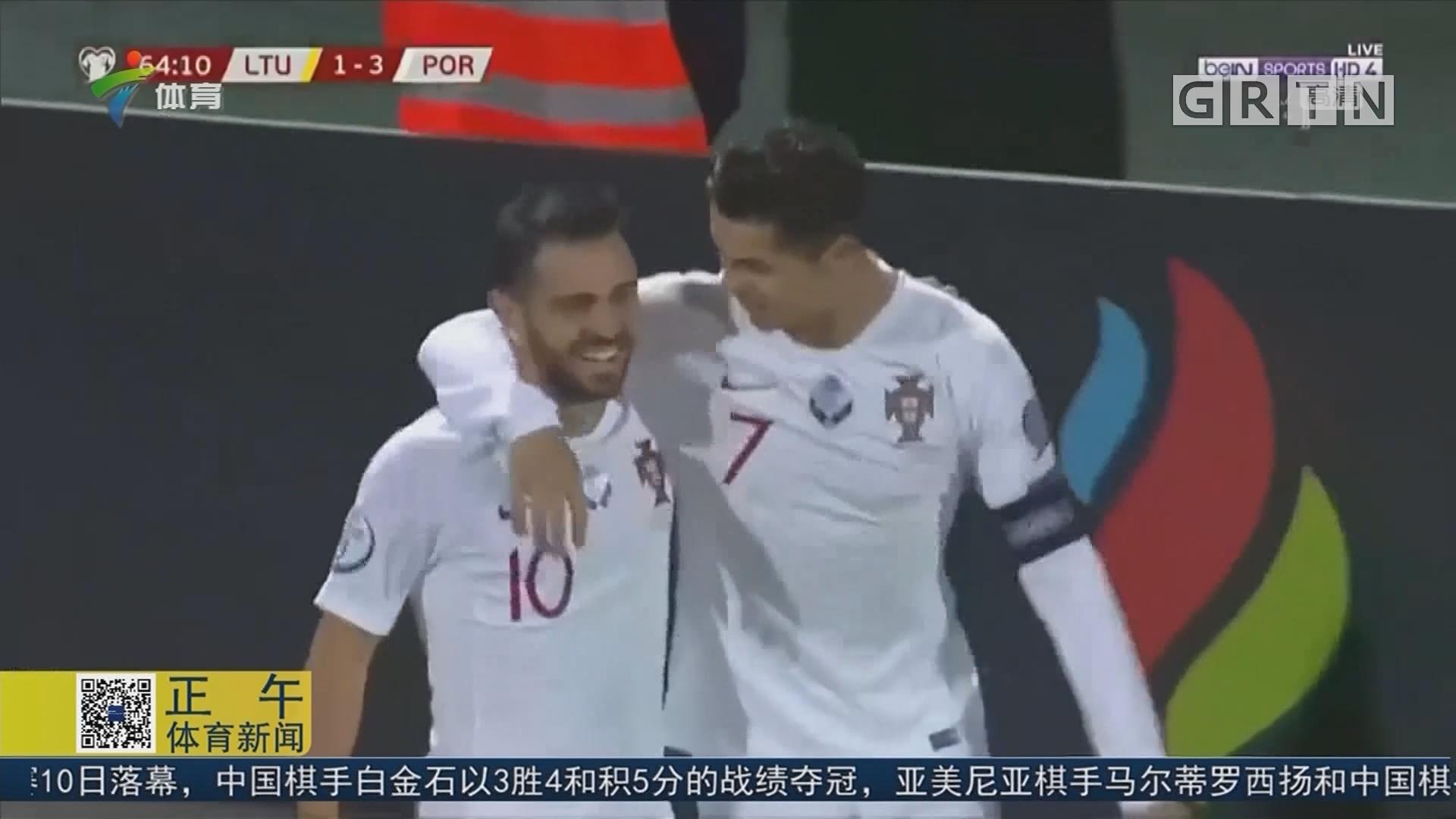 """C罗再开""""技能"""" 大四喜助葡萄牙大胜立陶宛"""