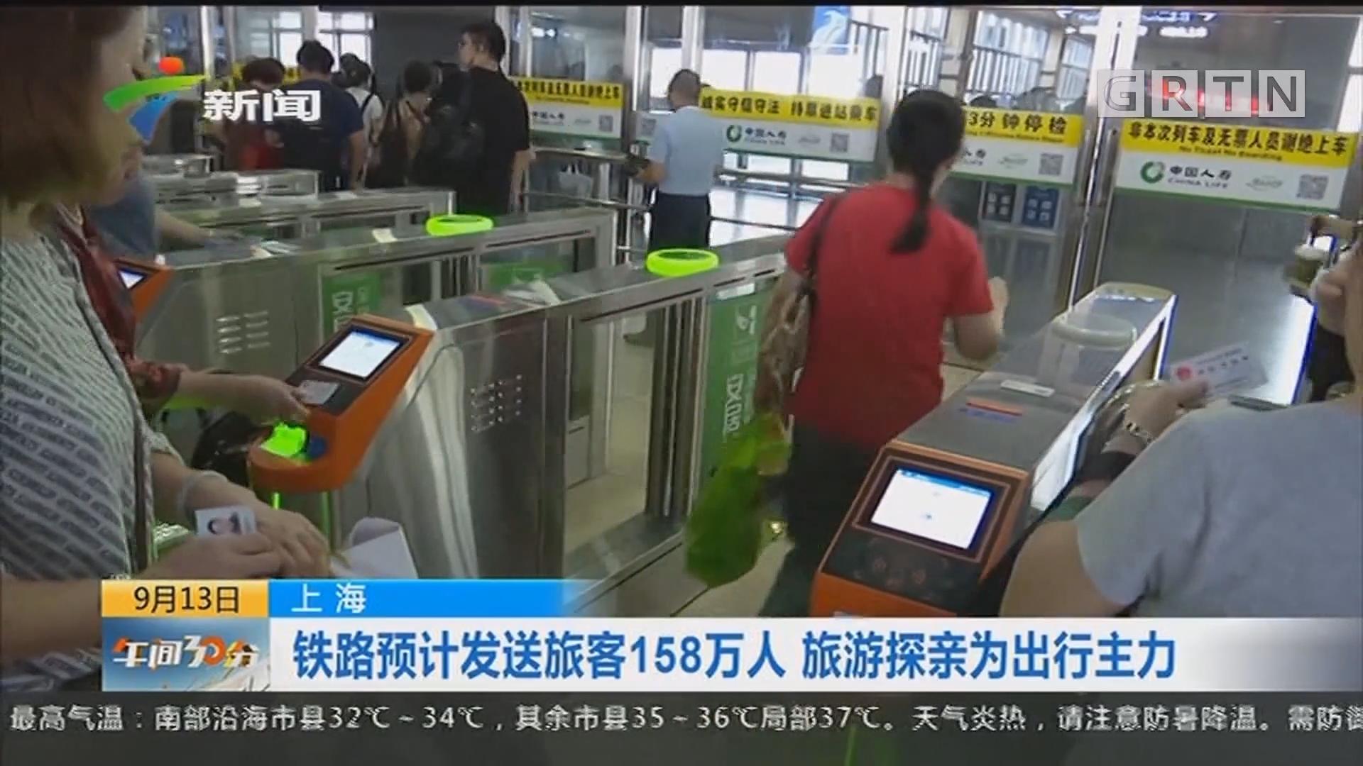 上海:铁路预计发送旅客158万人 旅游探亲为出行主力