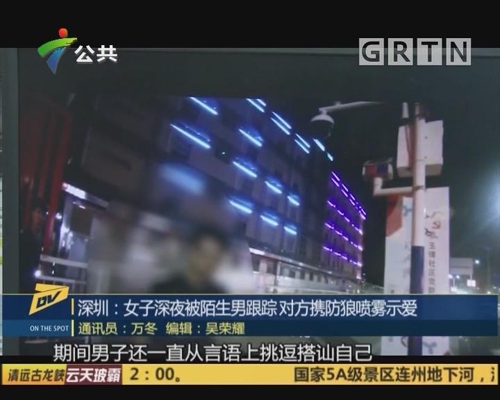 (DV现场)深圳:女子深夜被陌生男跟踪 对方携防狼喷雾示爱