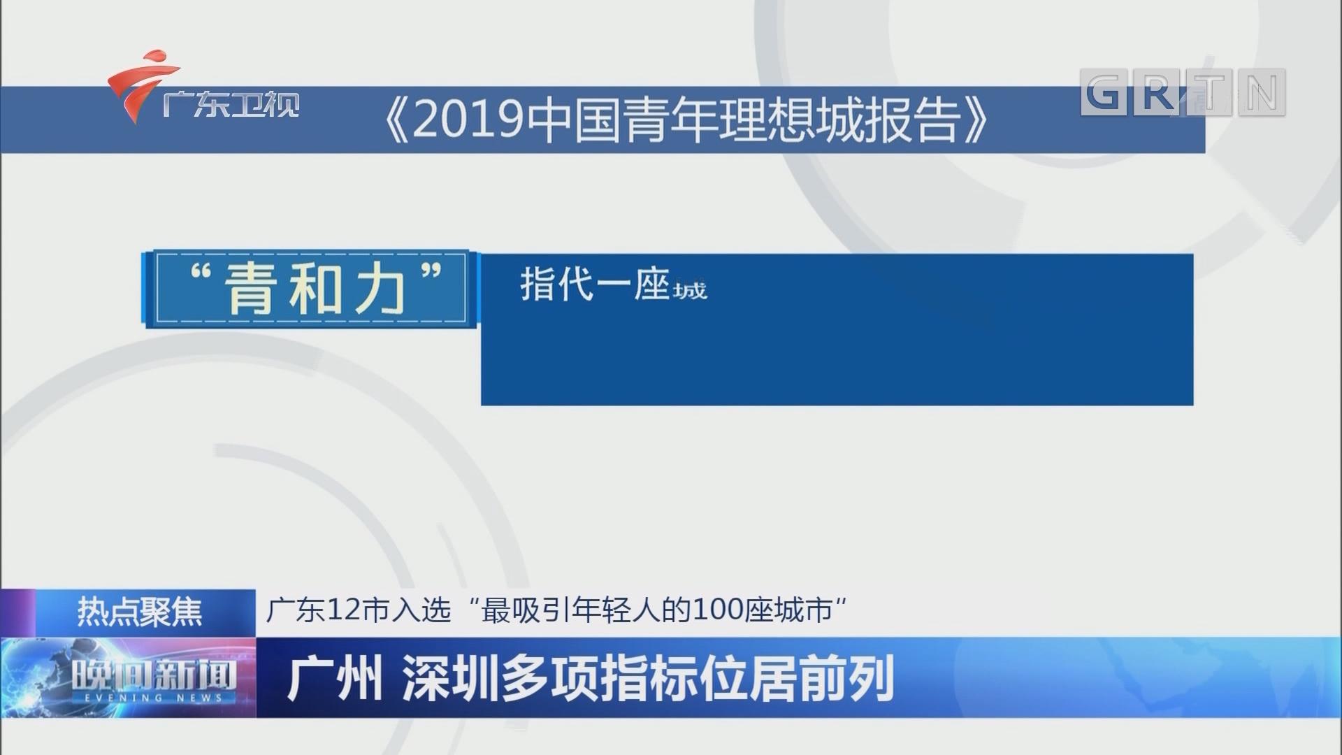 """广东12市入选""""最吸引年轻人的100座城市"""" 广州 深圳多项指标位居前列"""