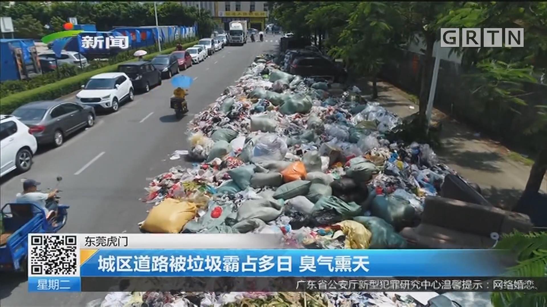东莞虎门:城区道路被垃圾霸占多日 臭气熏天