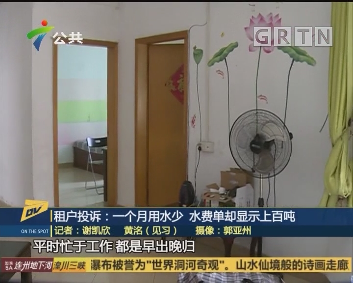 (DV现场)租户投诉:一个月用水少 水费单却显示上百吨