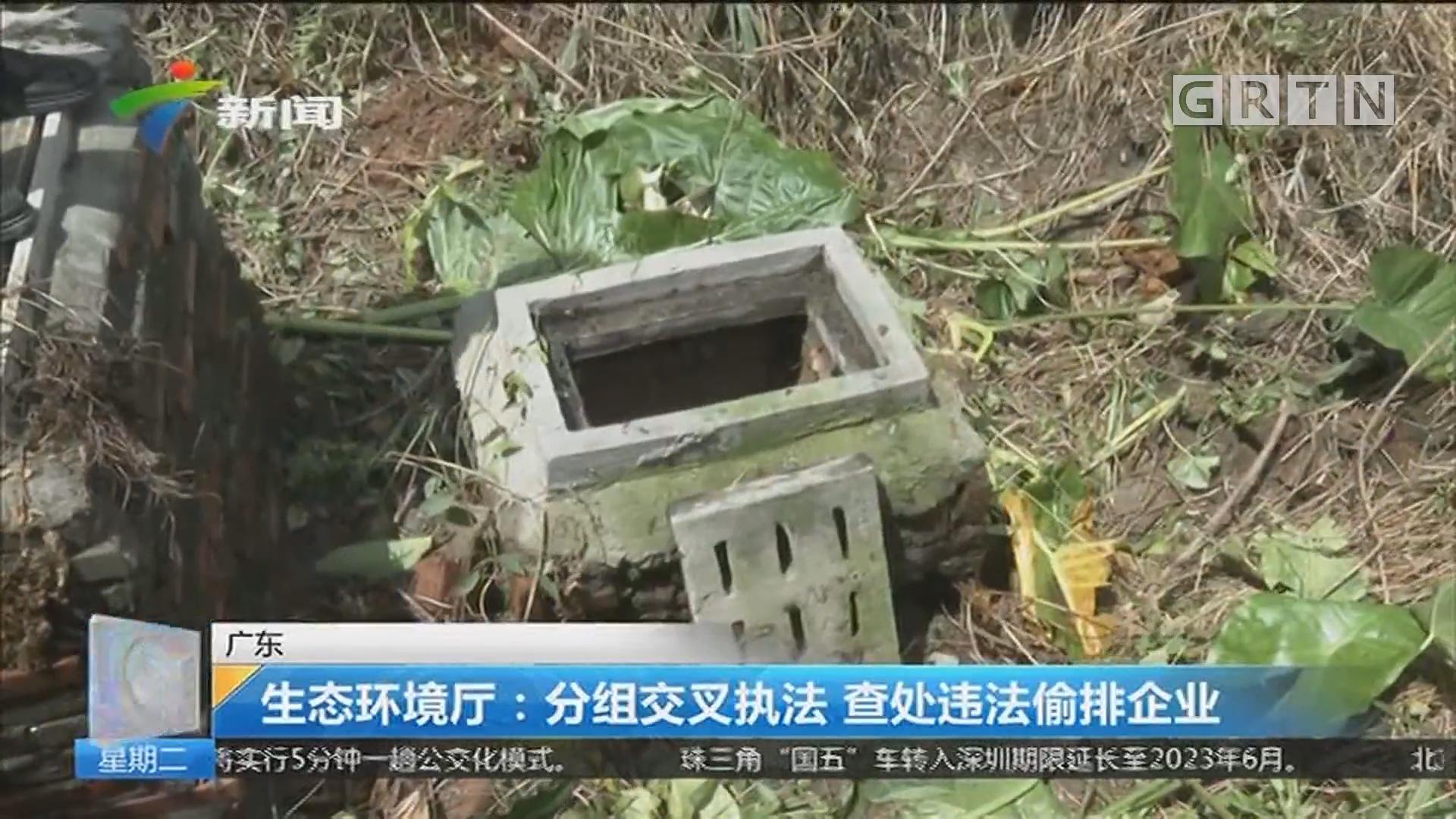 广东 生态环境厅:分组交叉执法 查处违法偷排企业