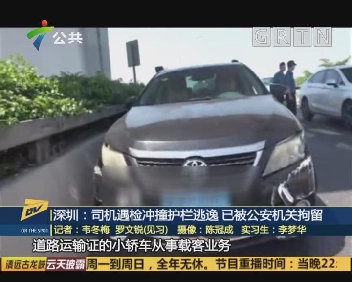 (DV现场)深圳:司机遇检冲撞护栏逃逸 已被公安机关拘留