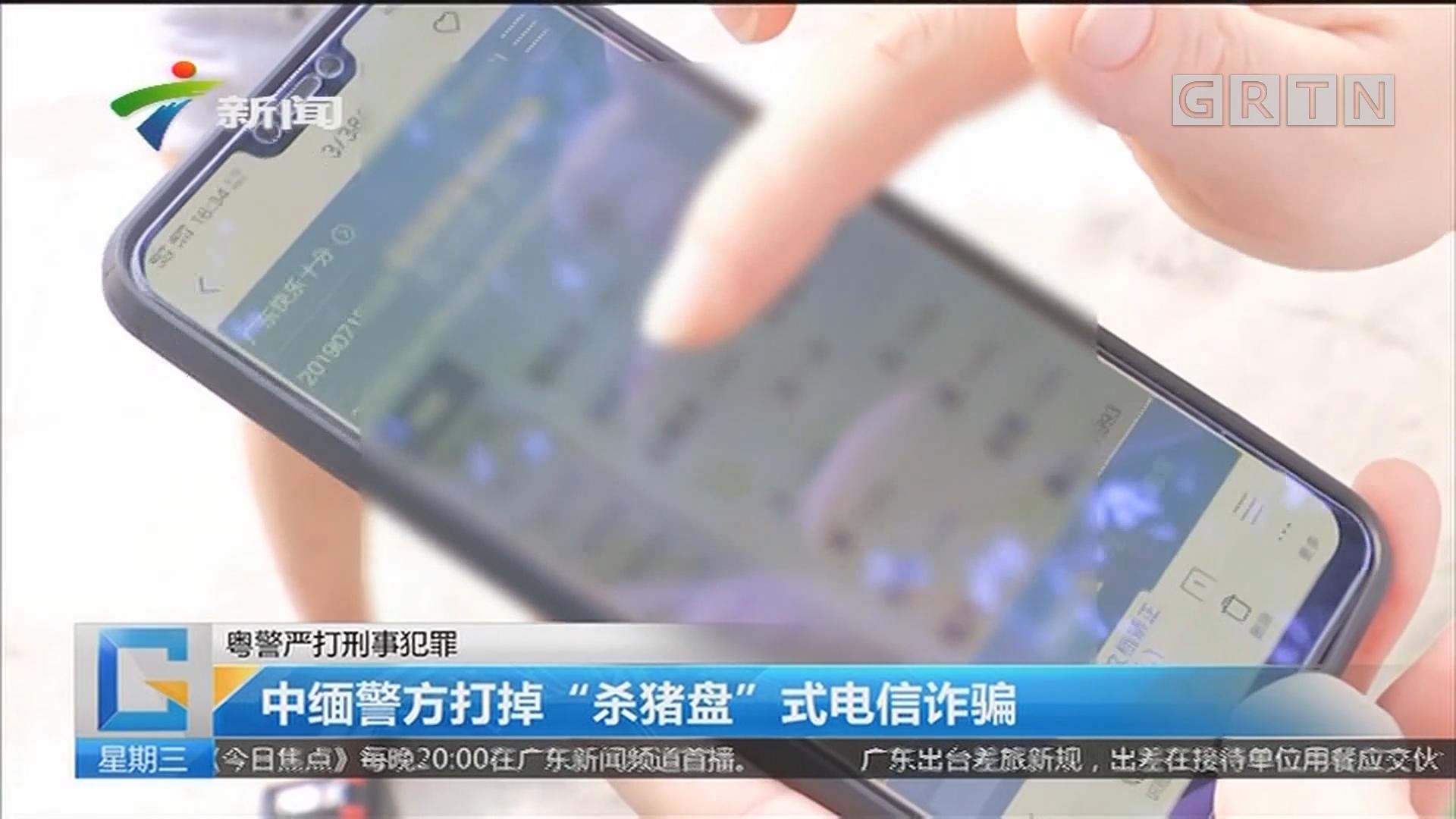 """粤警严打刑事犯罪 中缅警方打掉""""杀猪盘""""式电信诈骗"""