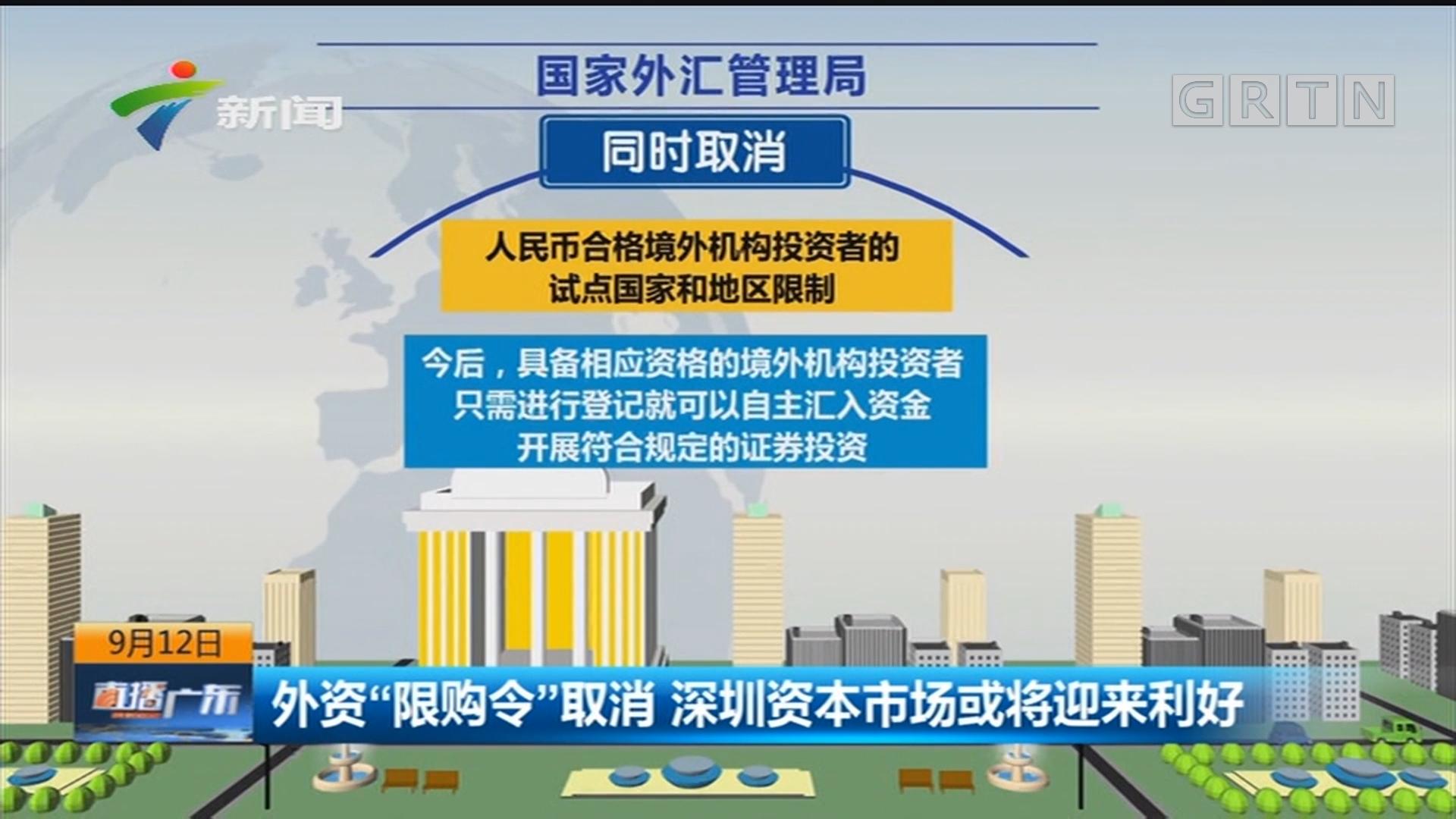 """外资""""限购令""""取消 深圳资本市场或将迎来利好"""