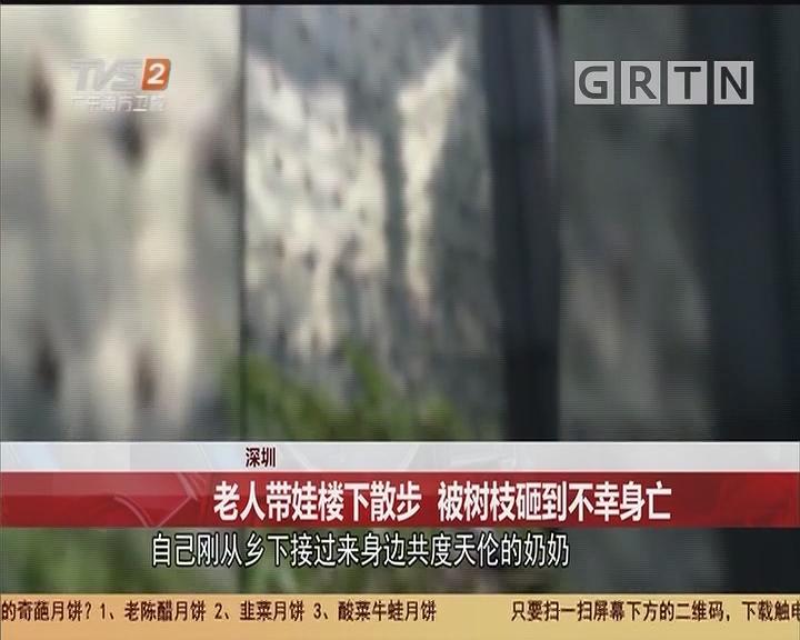 深圳:老人带娃楼下散步 被树枝砸到不幸身亡