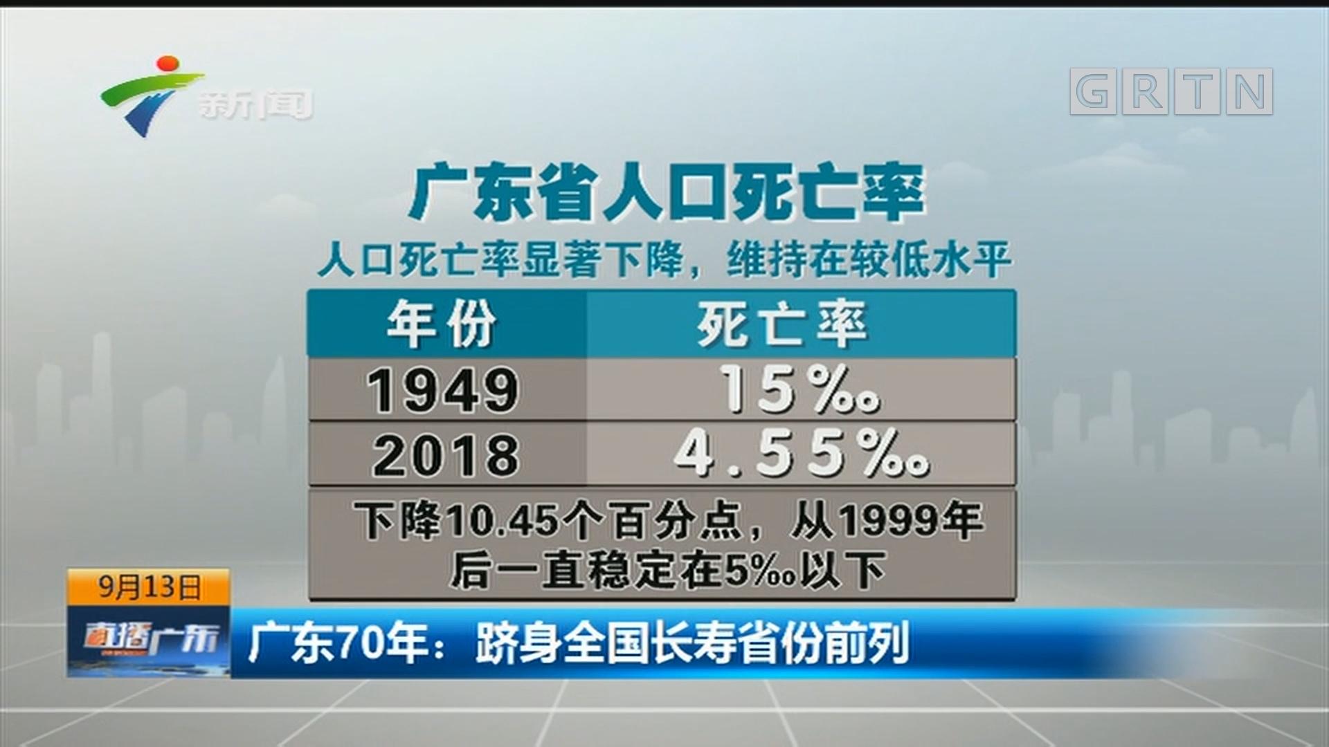 广东70年:跻身全国长寿省份前列