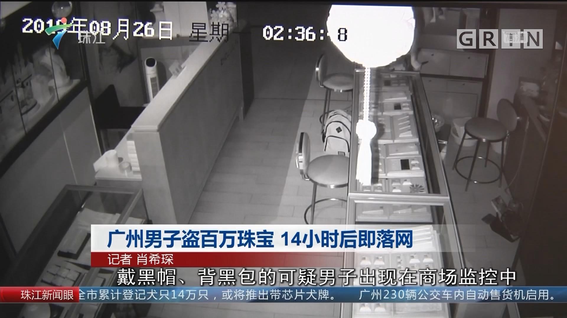 广州男子盗百万珠宝 14小时后即落网