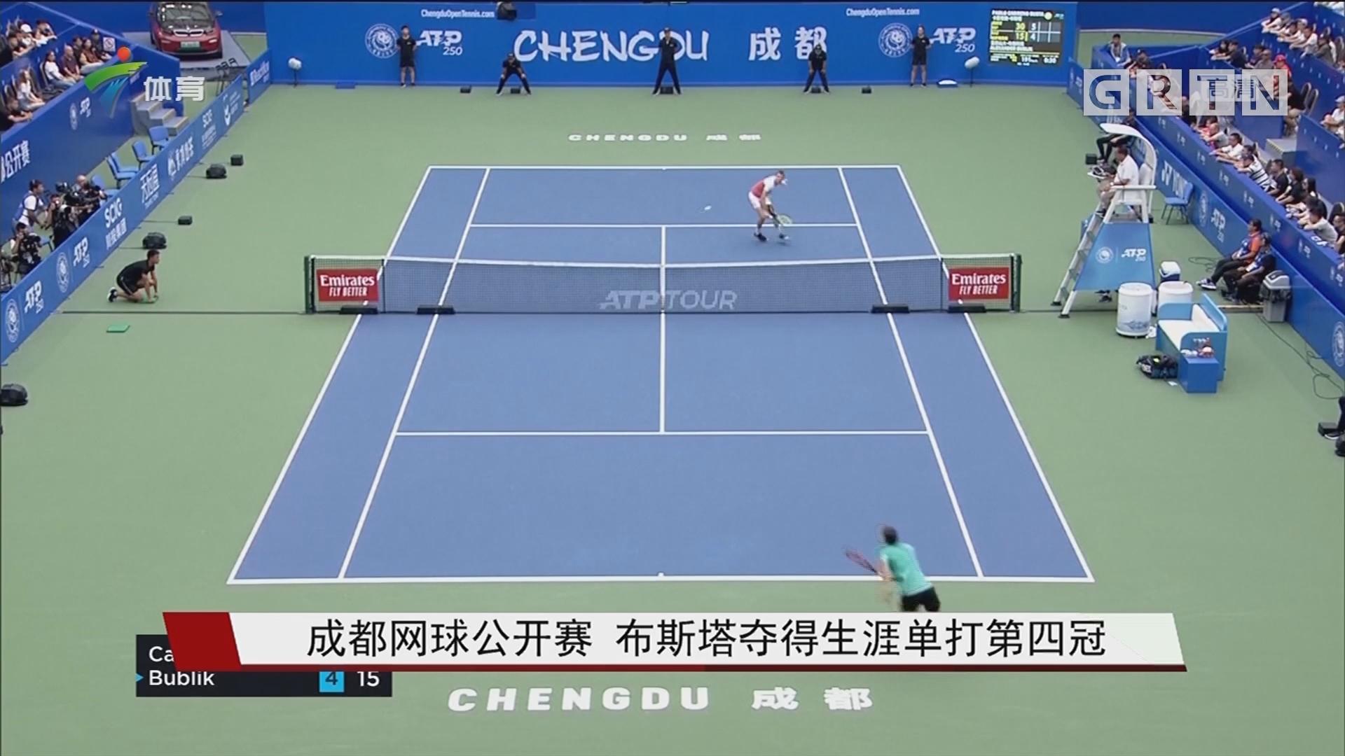成都网球公开赛 布斯塔夺得生涯单打第四冠