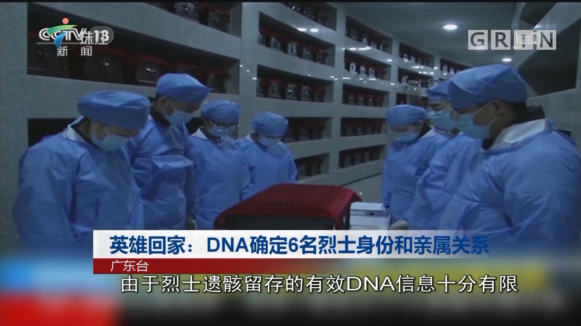 英雄回家:DNA確定6名烈士身份和親屬關系