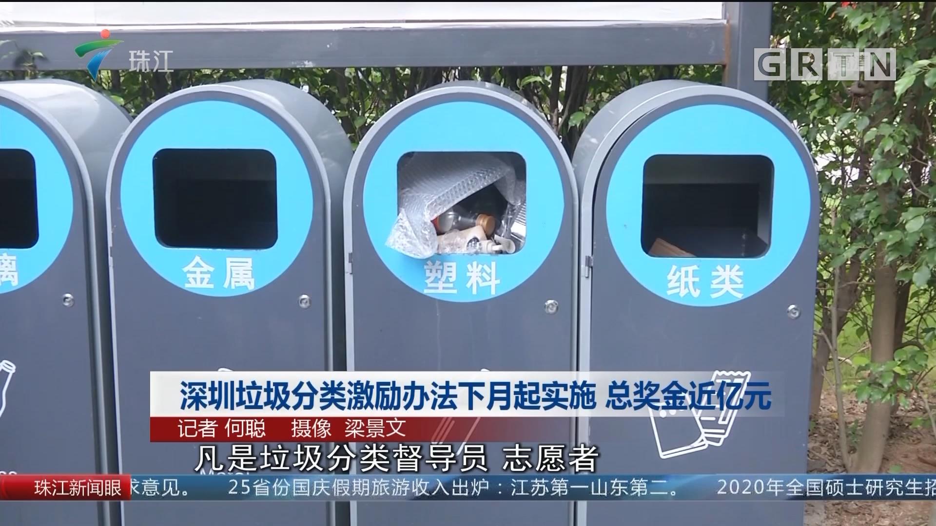 深圳垃圾分类激励办法下月起实施 总奖金近亿元