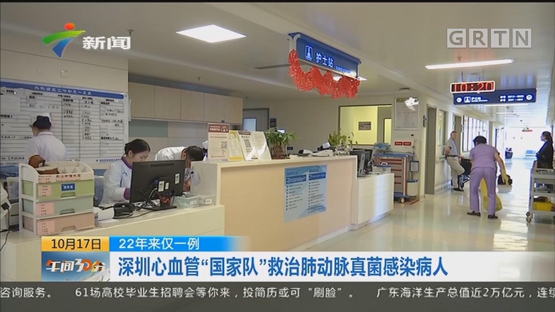"""22年来仅一例:深圳心血管""""国家队""""救治肺动脉真菌感染病人"""