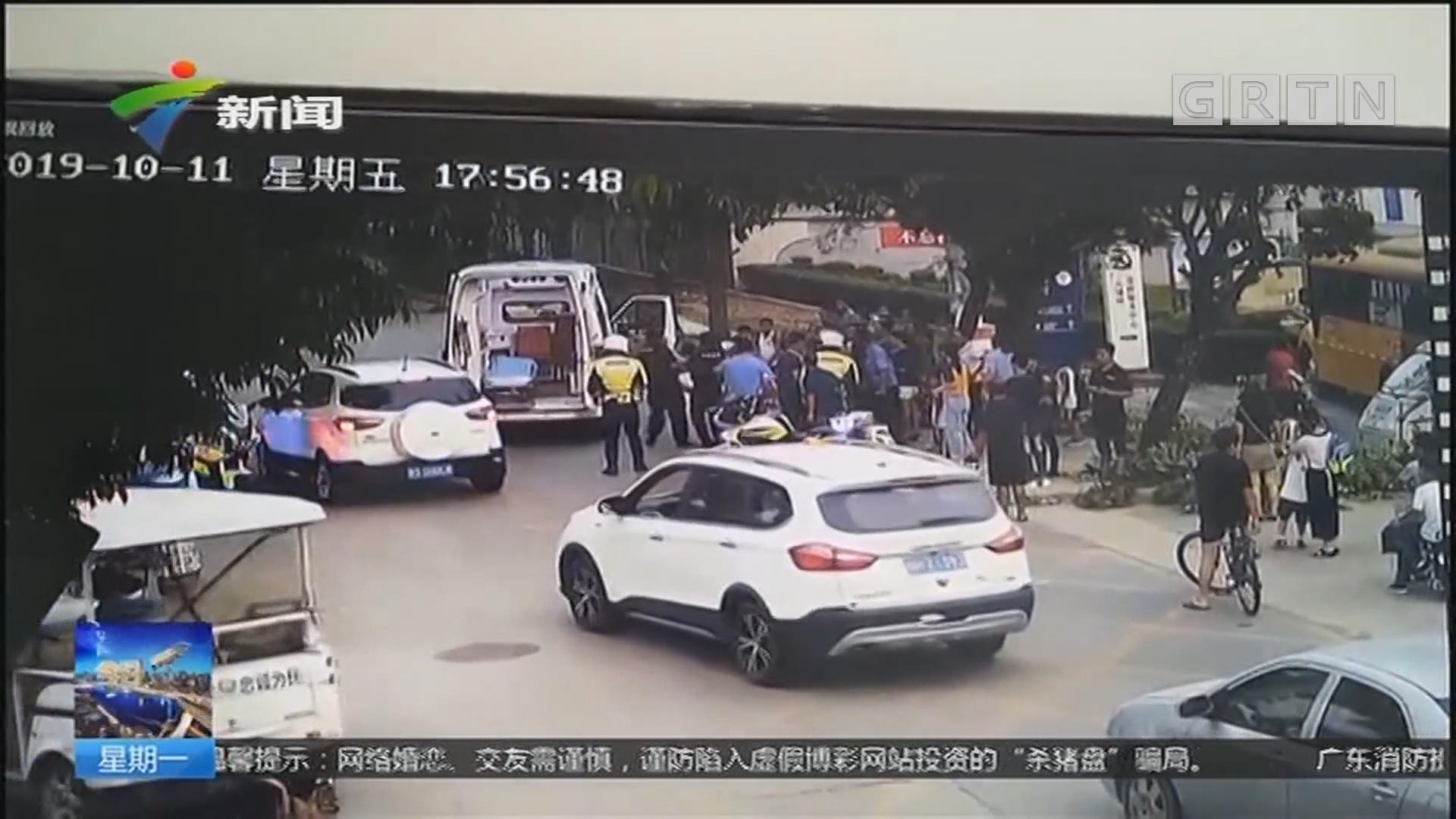东莞清溪:小学生横穿马路被撞 幸无生命危险