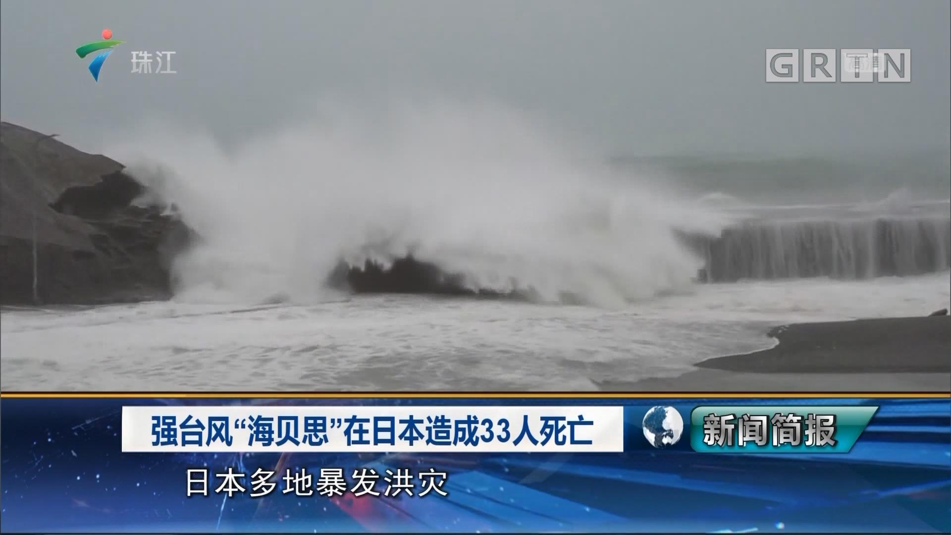 """强台风""""海贝斯""""在日本造成33人死亡"""