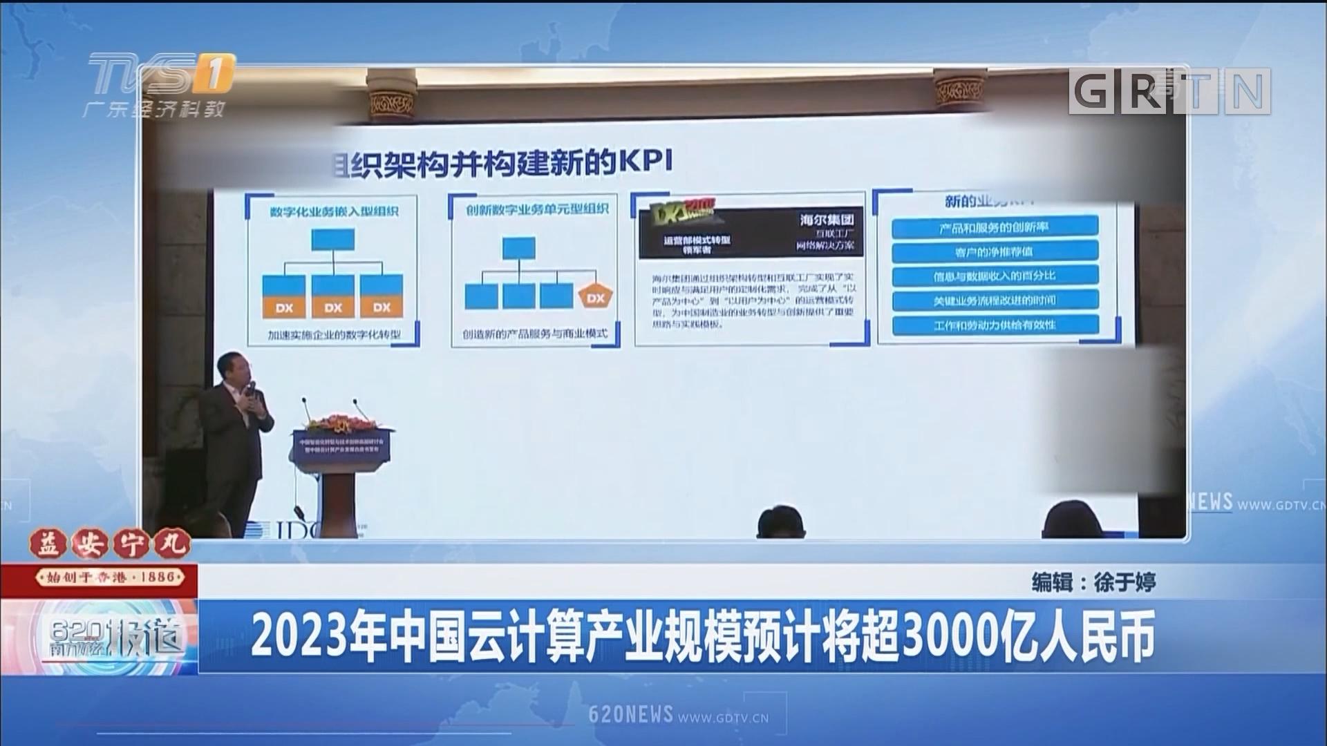 2023年中国云计算产业规模预计将超3000亿人民币