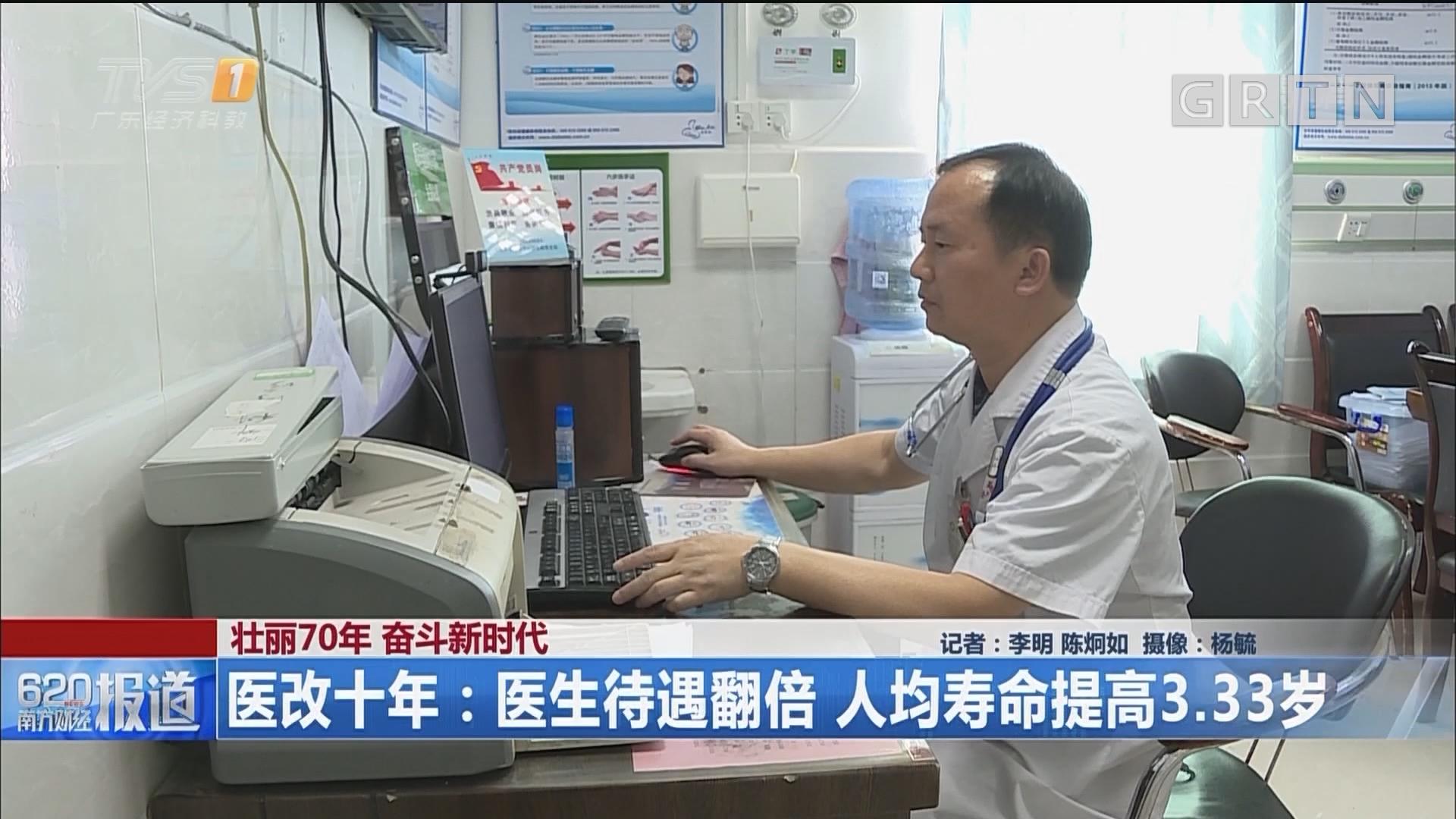壮丽70年 奋斗新时代 医改十年:医生待遇翻倍 人均寿命提高3.33岁