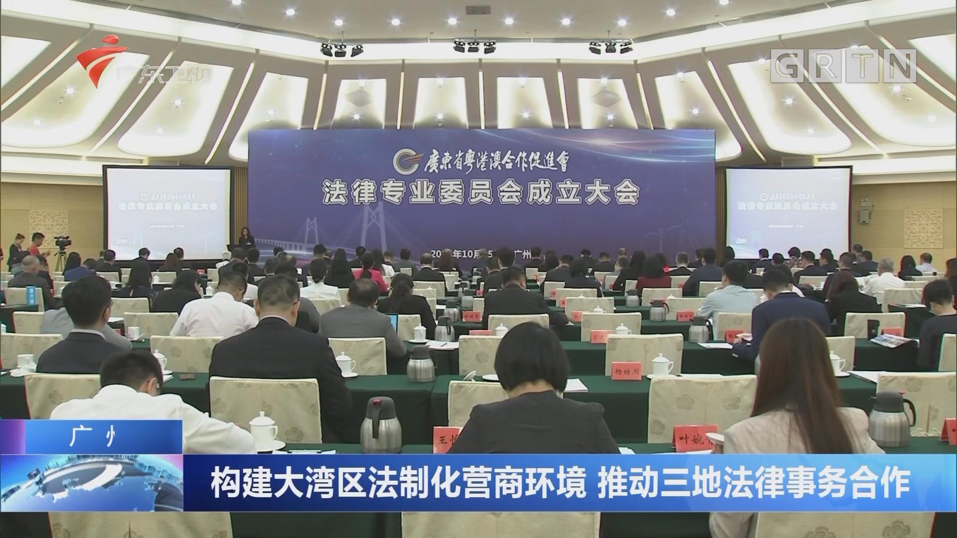 广州:构建大湾区法制化营商环境 推动三地法律事务合作