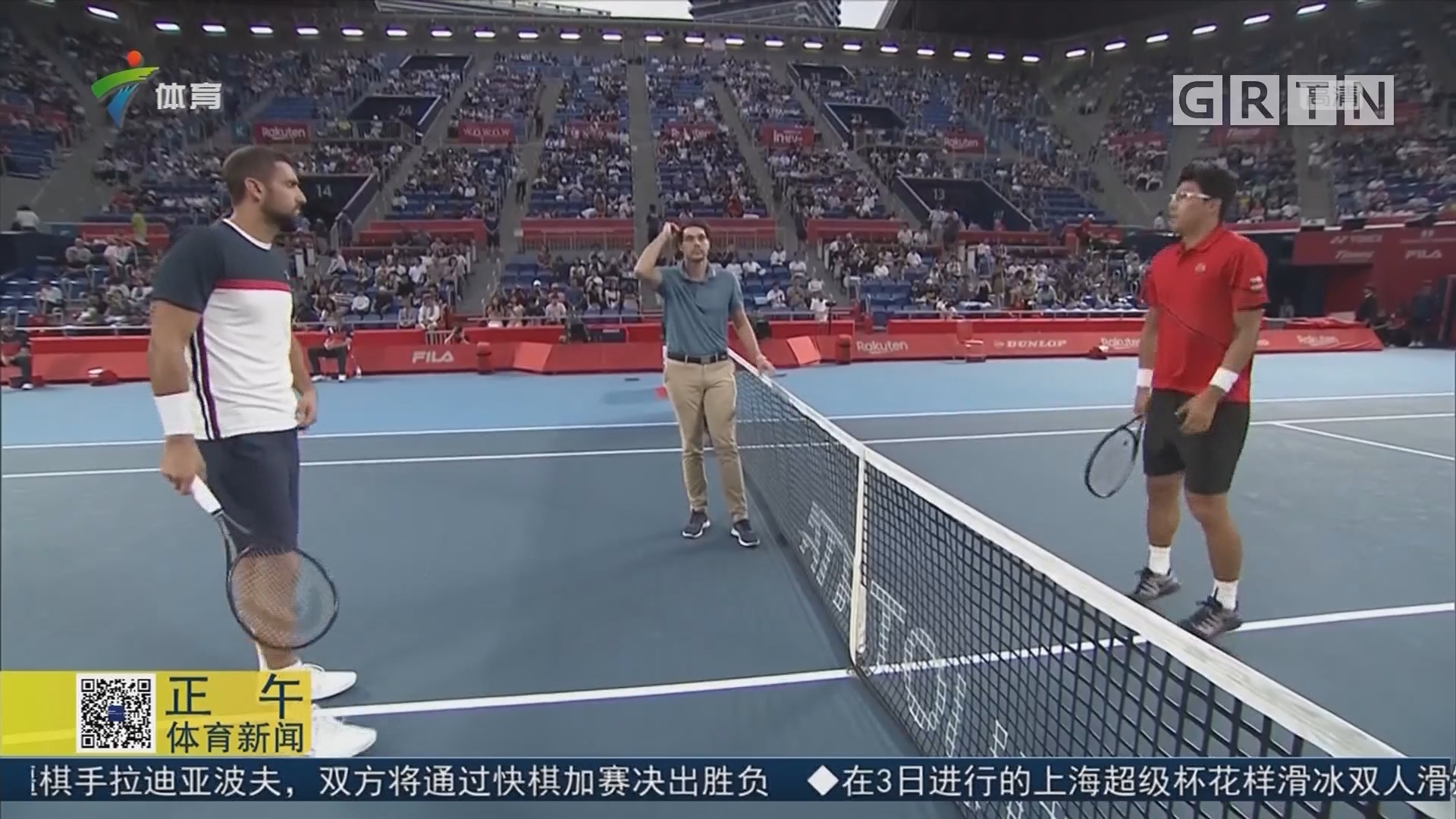 ATP東京賽 戈芬攜手鄭泫晉級男單八強
