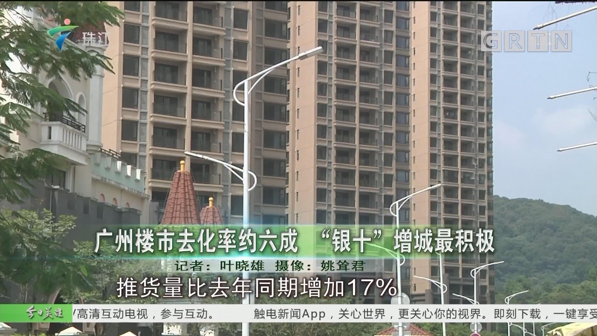 """广州楼市去化率约六成 """"银十""""增城最积极"""