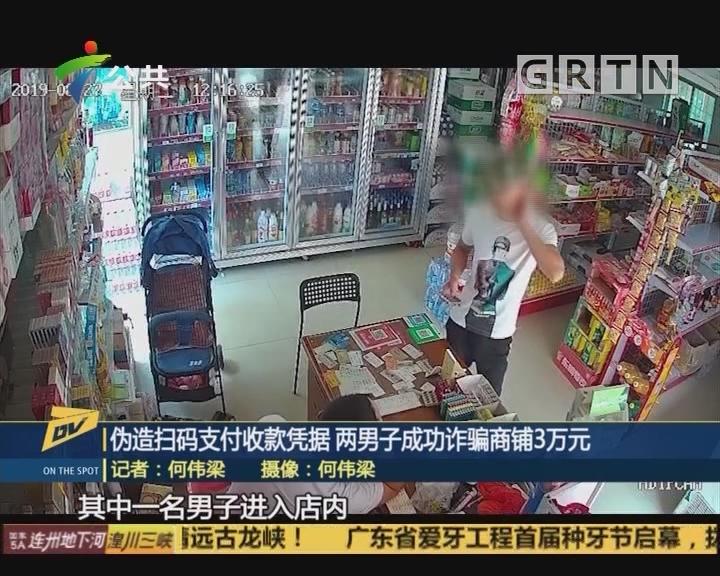 (DV现场)伪造扫码支付收款凭据 两男子成功诈骗商铺3万元
