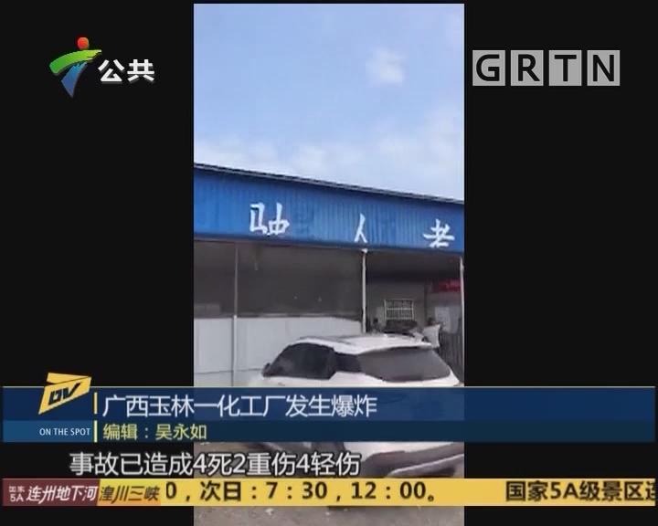 (DV现场)广西玉林一化工厂发生爆炸