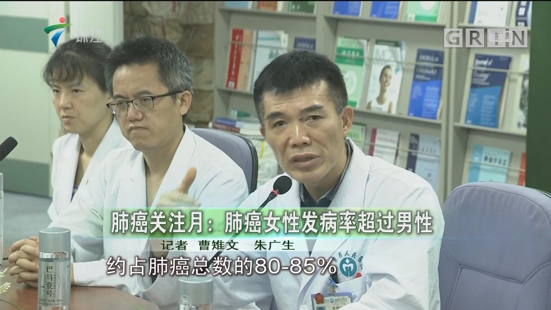 肺癌关注月:肺癌女性发病率超过男性